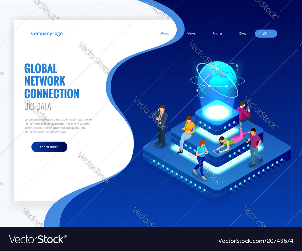 Isometric social network technology networking