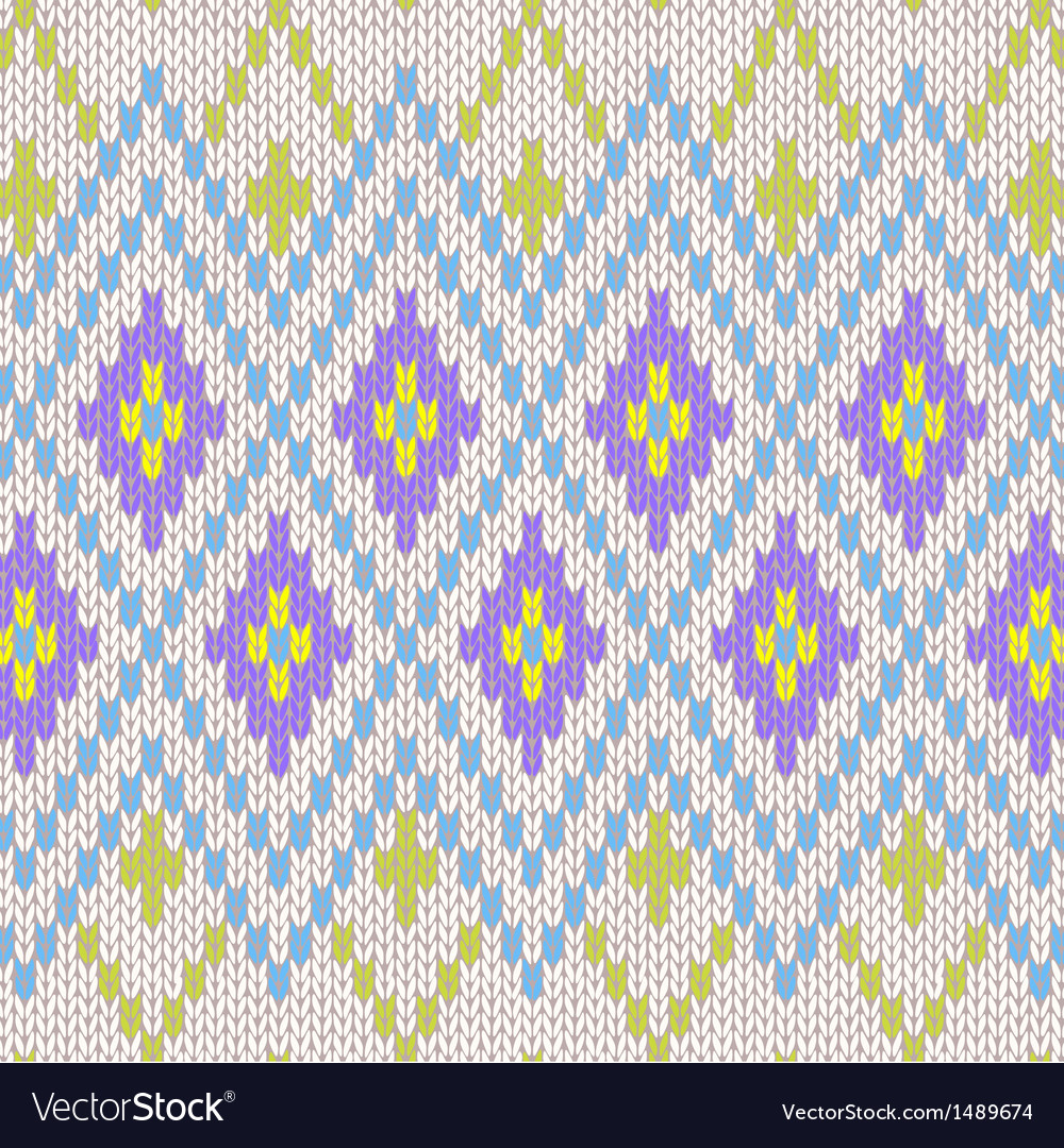 Seamless Pattern Knit Ornament Texture vector image