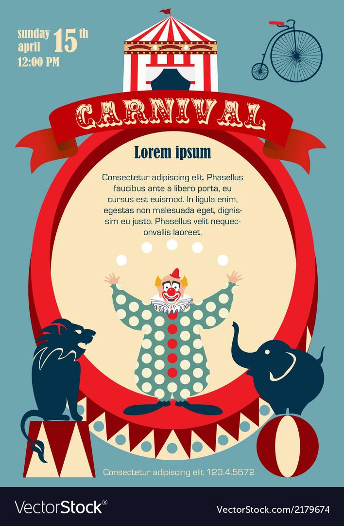 Vintage carnival or circus invitation