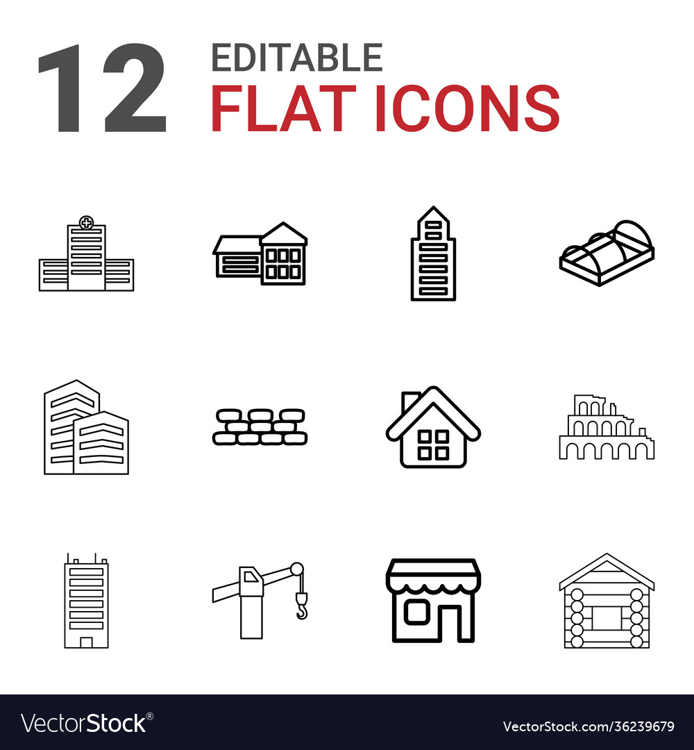 12 building icons