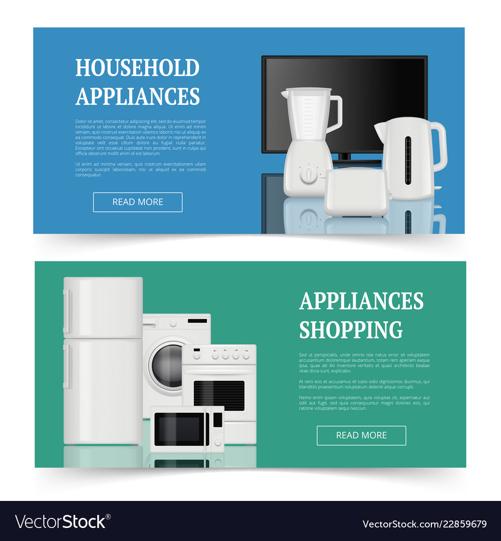 Appliances Shopping Advertising Of Electrical