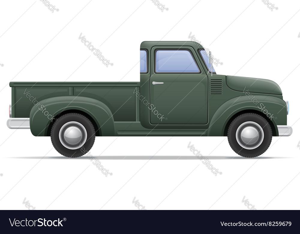 Car pickup 01 vector image