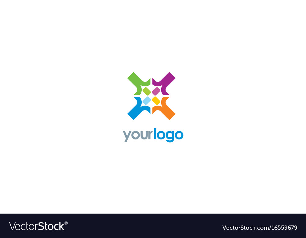 Circle colored diversity logo
