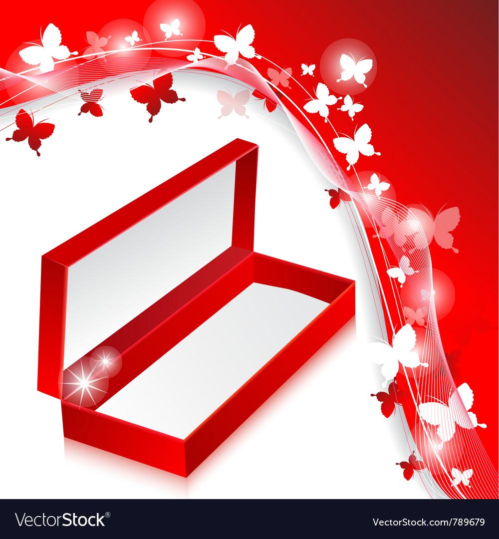 Elegant butterflies box vector image