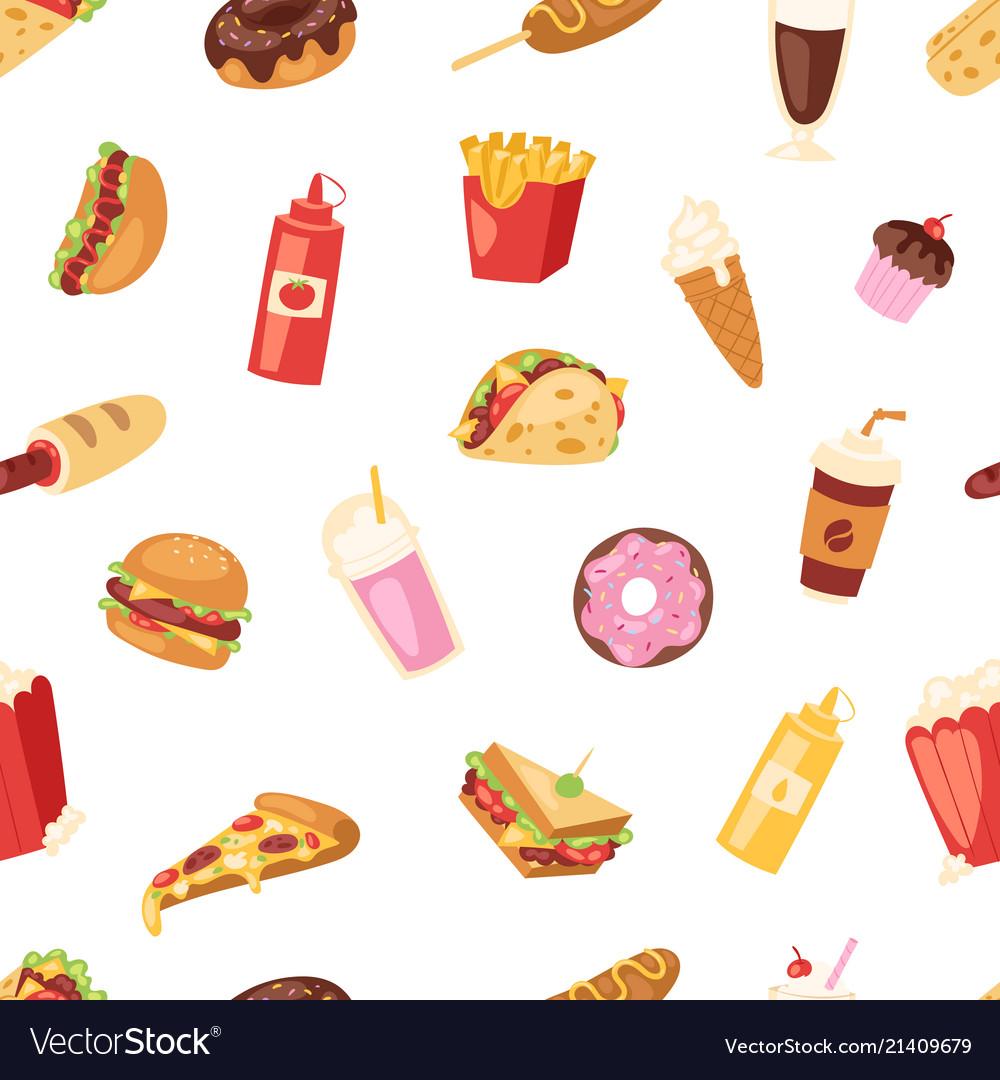 Fast food nutrition american hamburger or