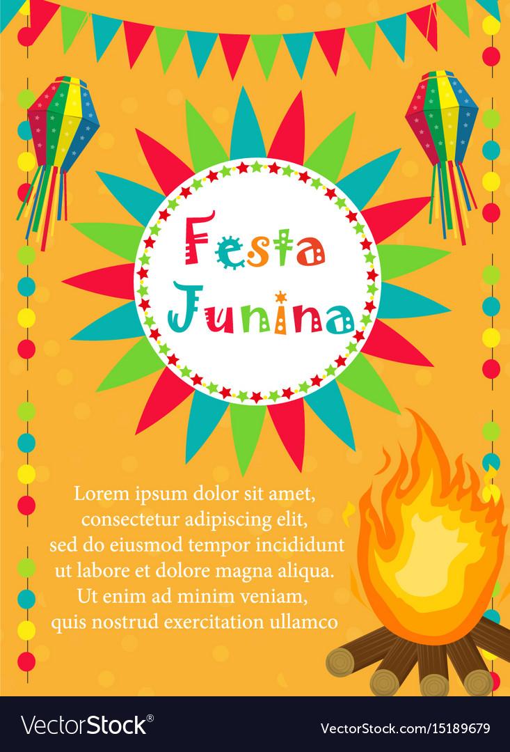 Festa junina greeting card invitation poster