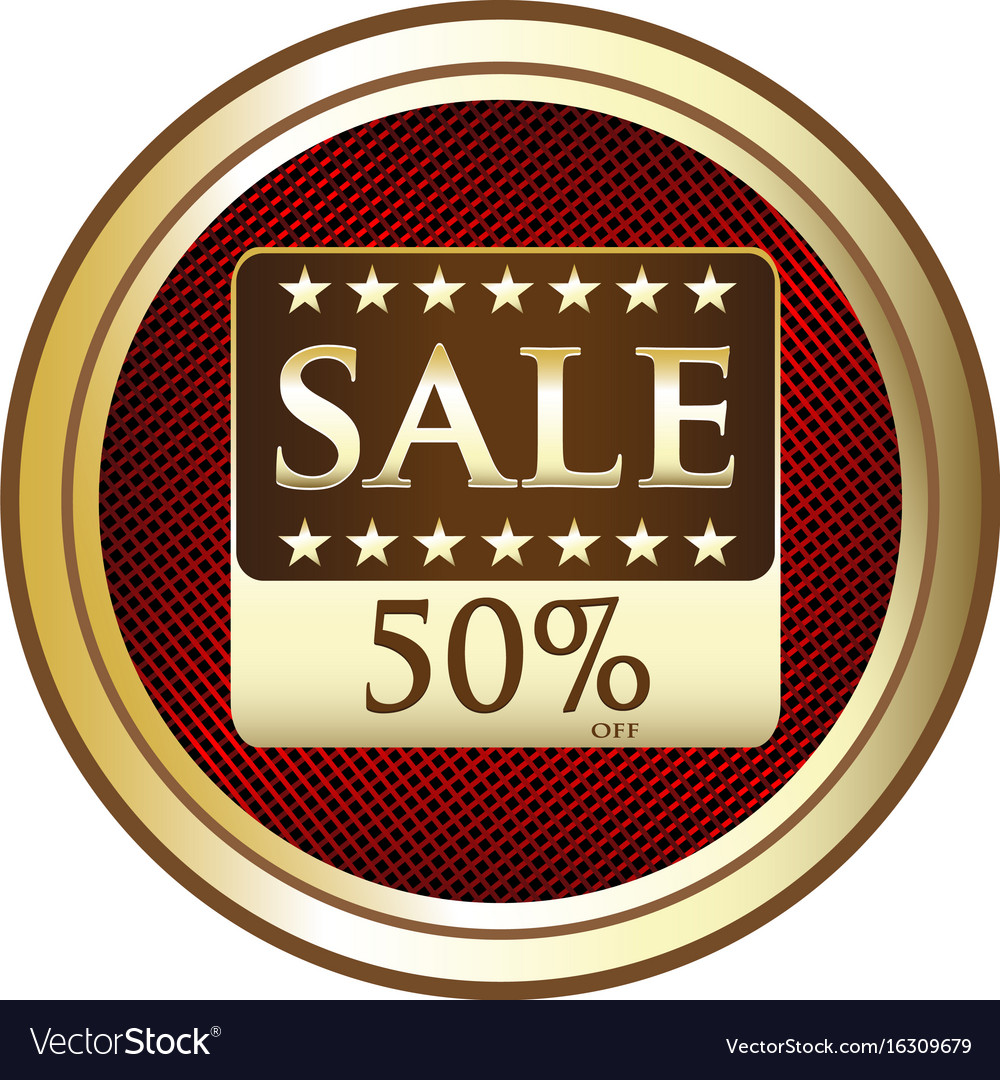 Fifty percent sale icon