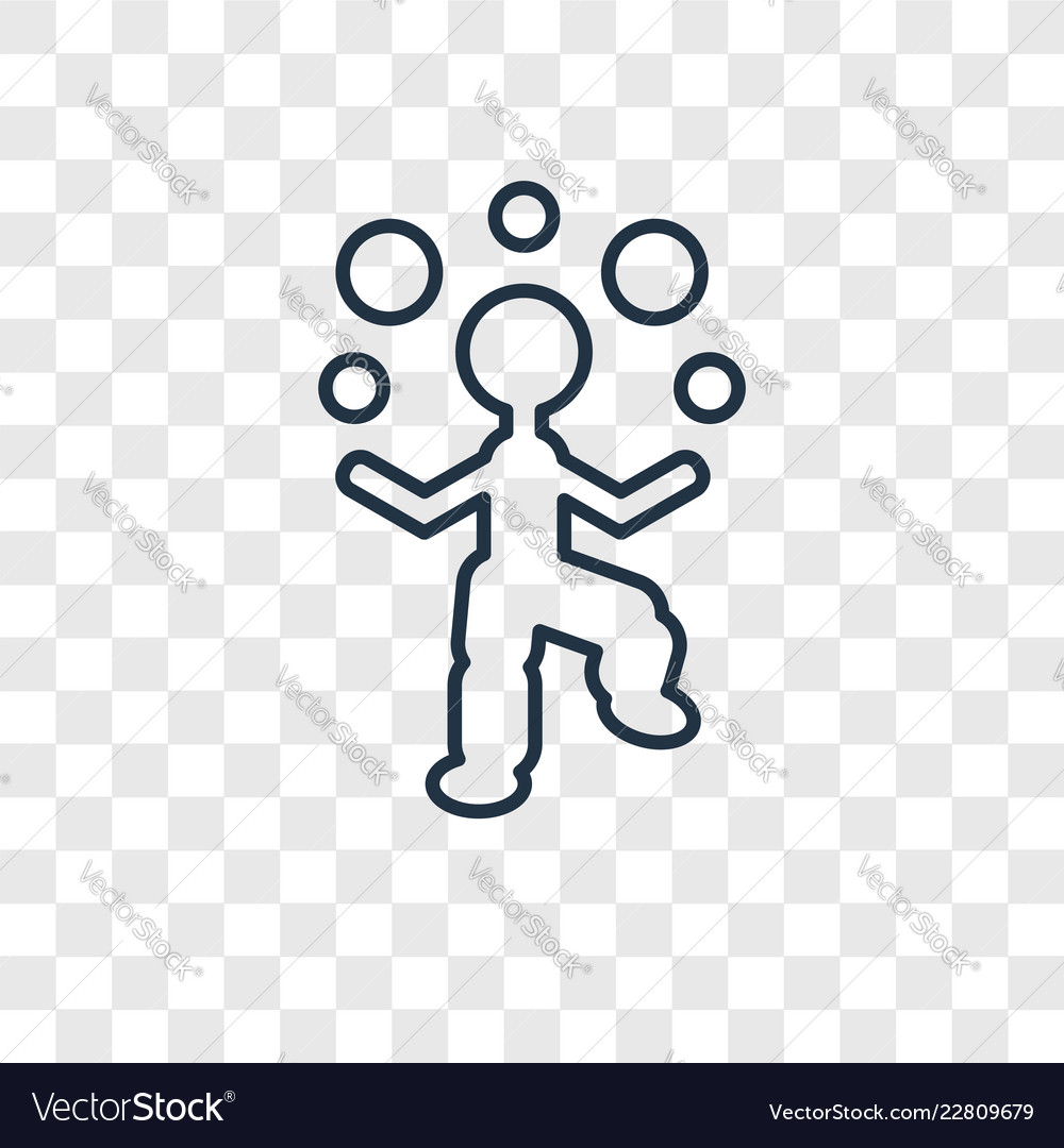 Juggler man concept linear icon isolated on