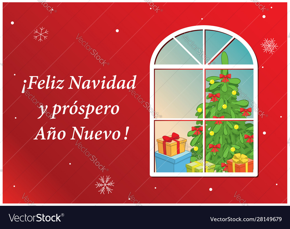 happy new year on spanish Vector Image