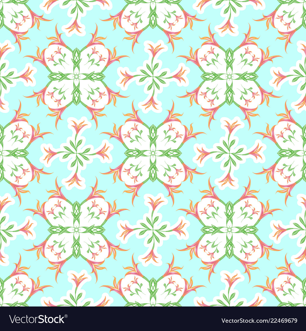 Seamless pattern of lilies for fabric wallpaper