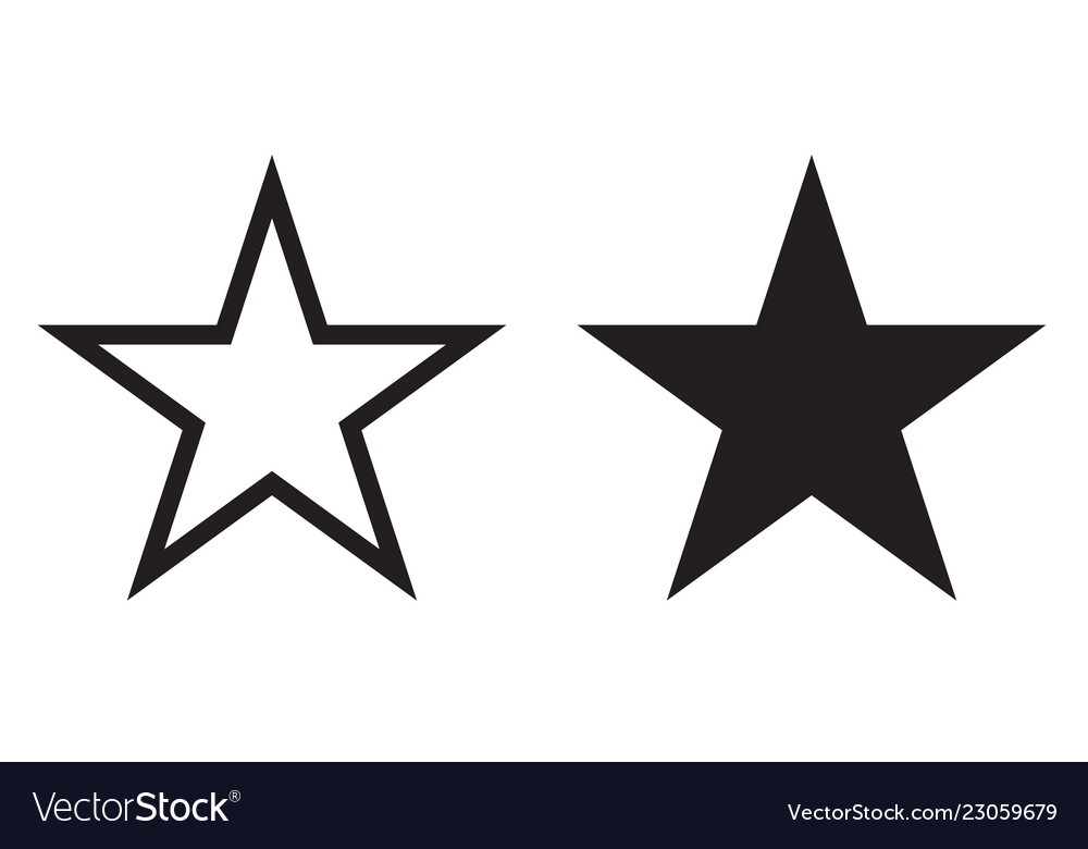 Star icon of geometry five-ray star line