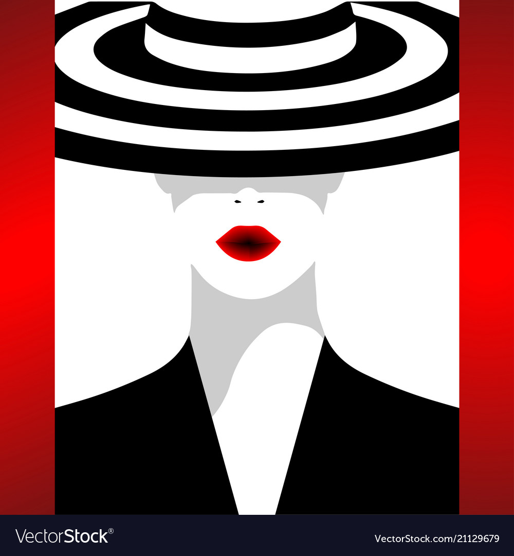 The fashionable woman in a hat