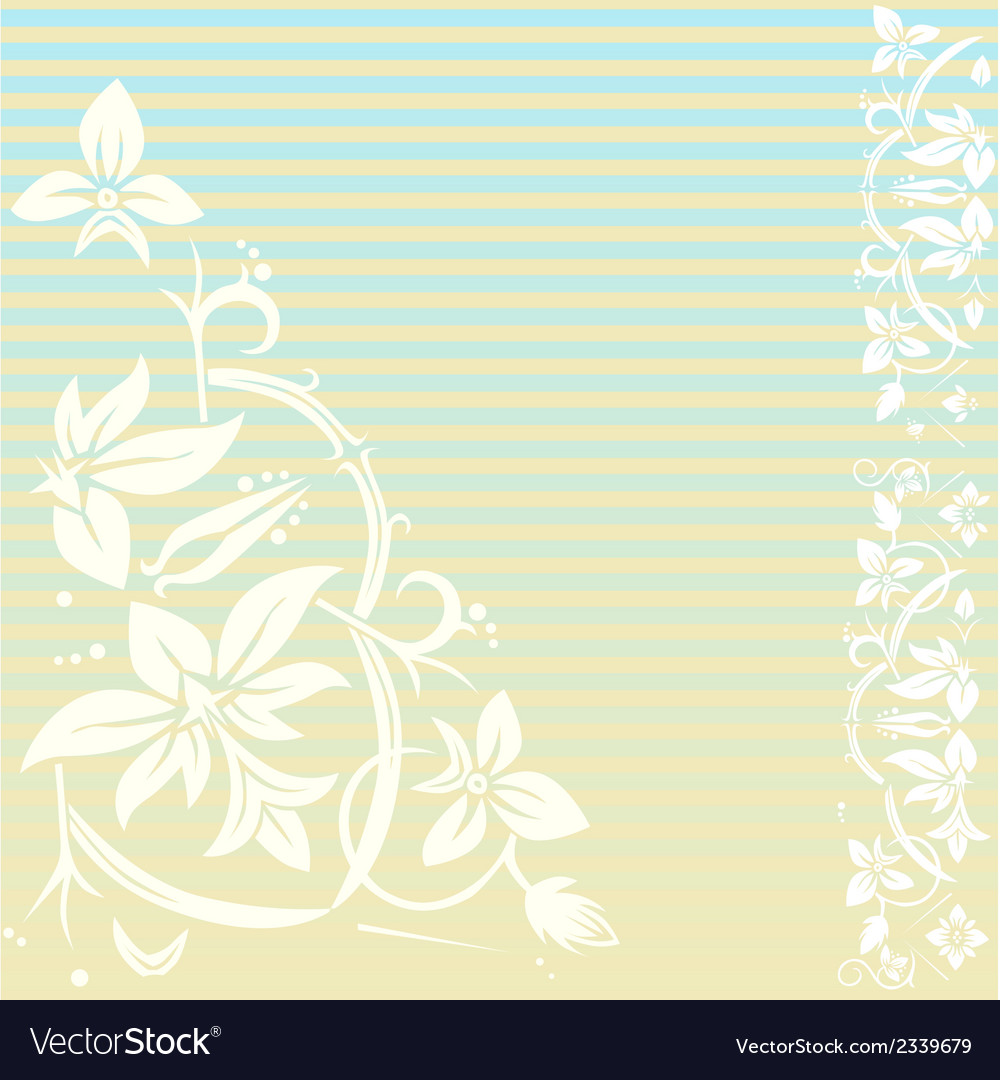 Vintage floral background with stripes