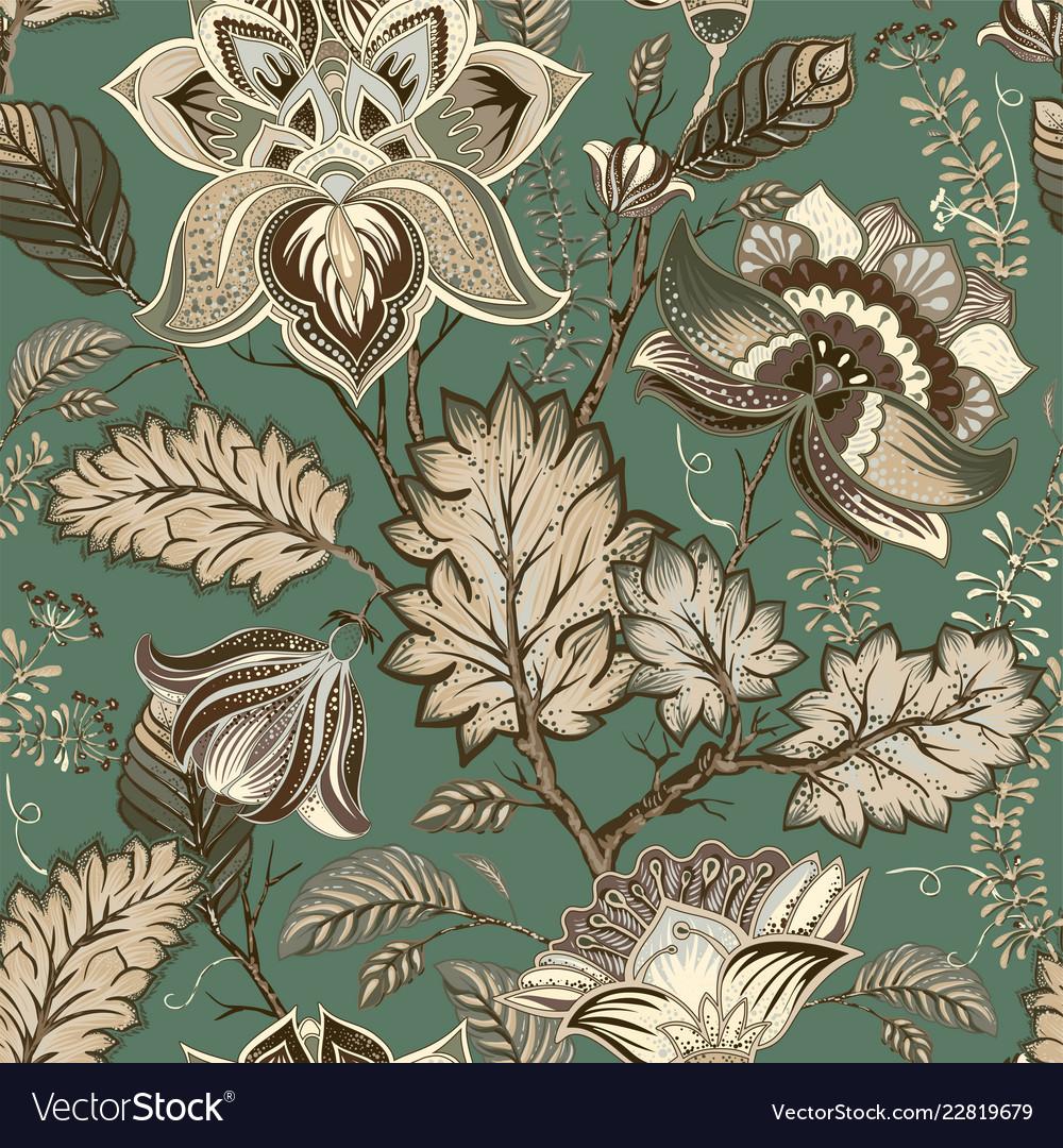 Vintage Floral Pattern Provence Style Big Vector Image