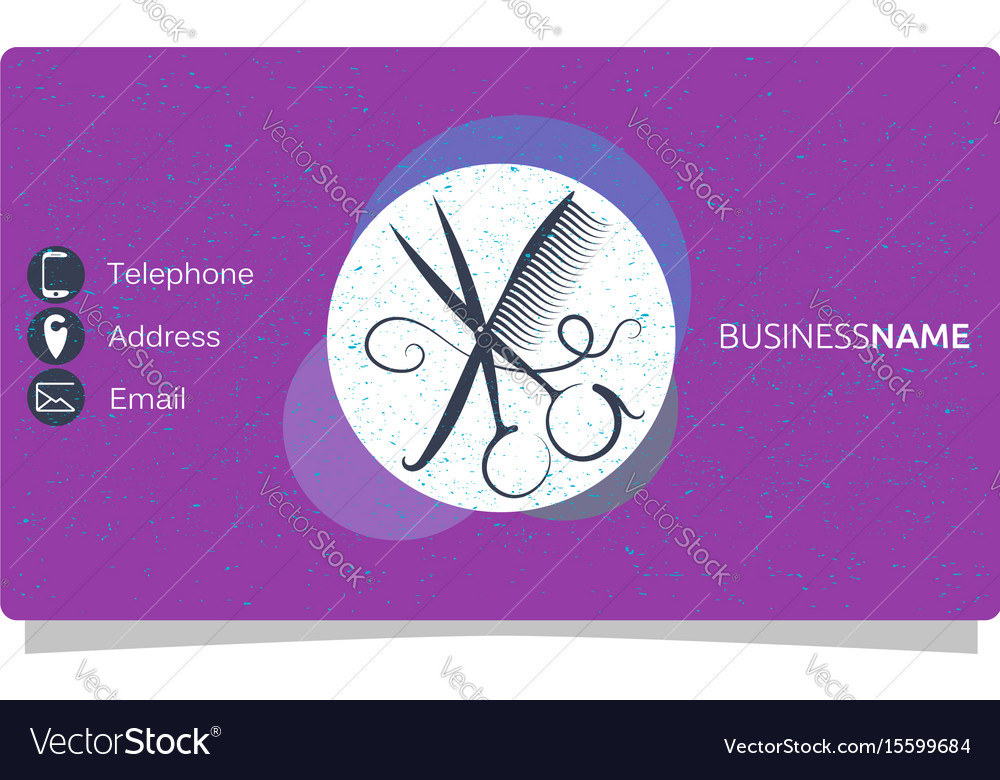 Beauty salon business card Royalty Free Vector Image