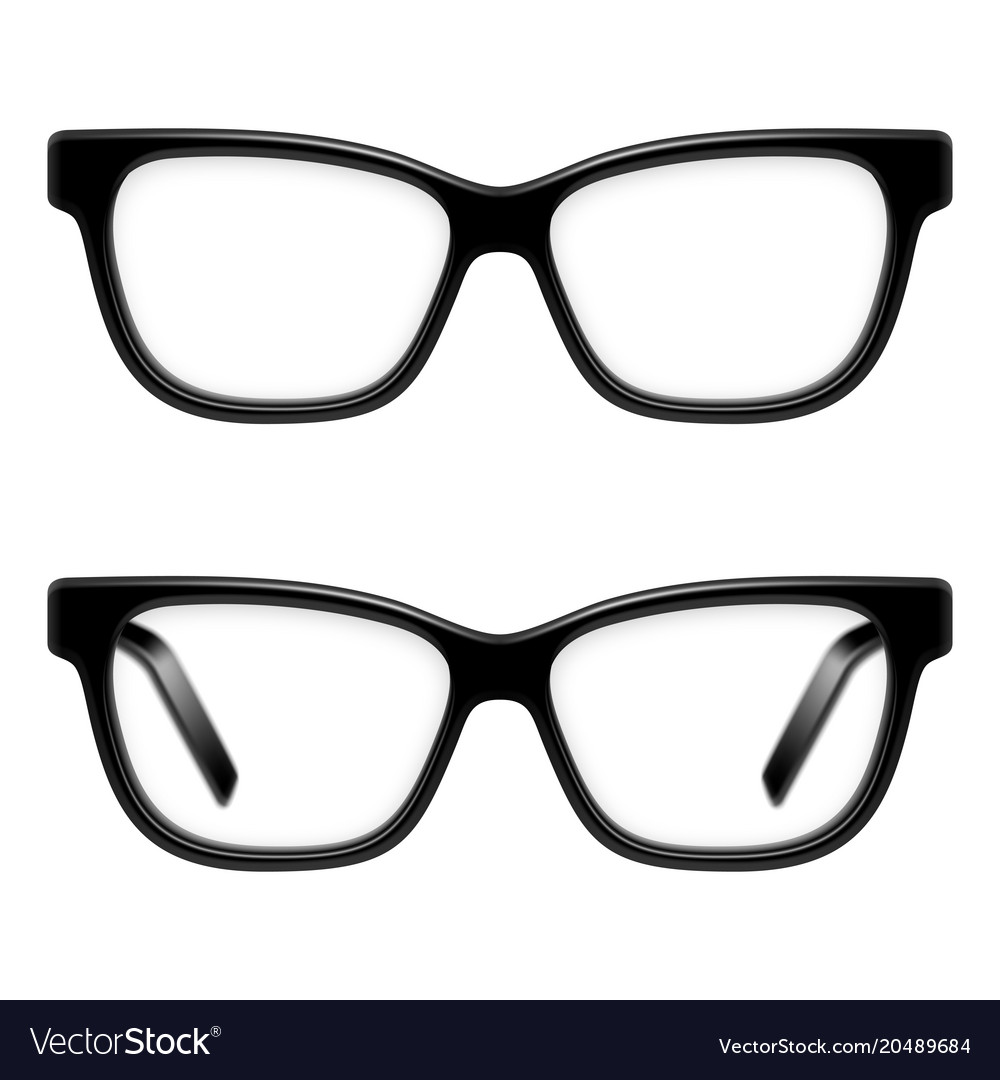 Black framed glasses Royalty Free Vector Image