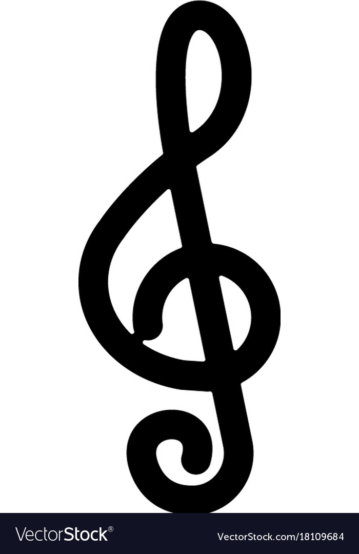 Music note 2 icon black sign vector image