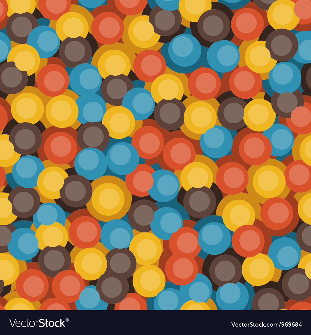 Retro bubbles pattern