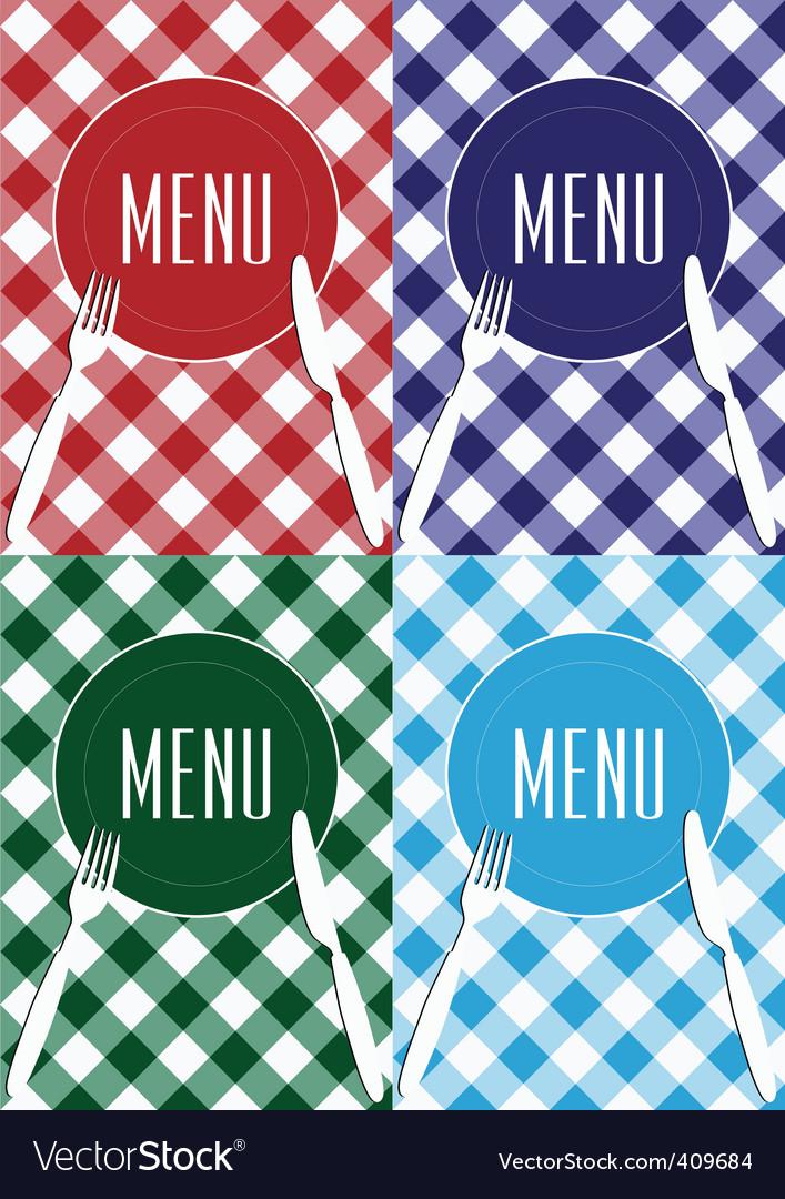 Set of menu card covers