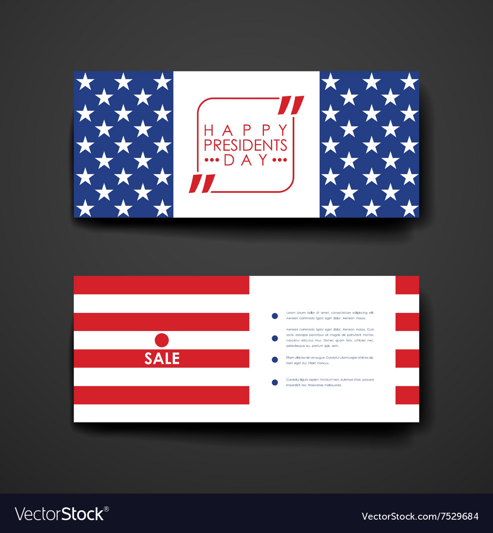 Set of modern design banner template in Presidents