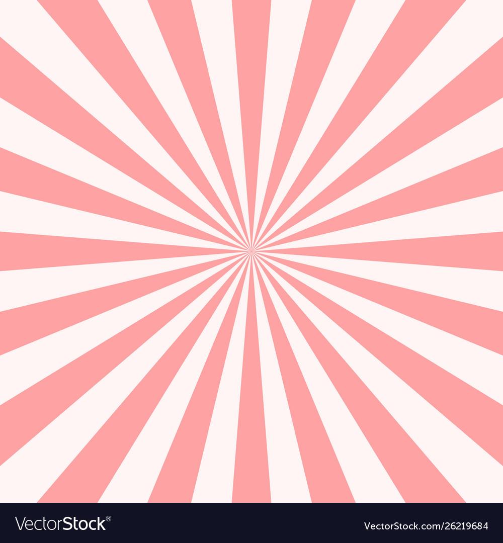 Sweet pink candy retro sunburst background sun