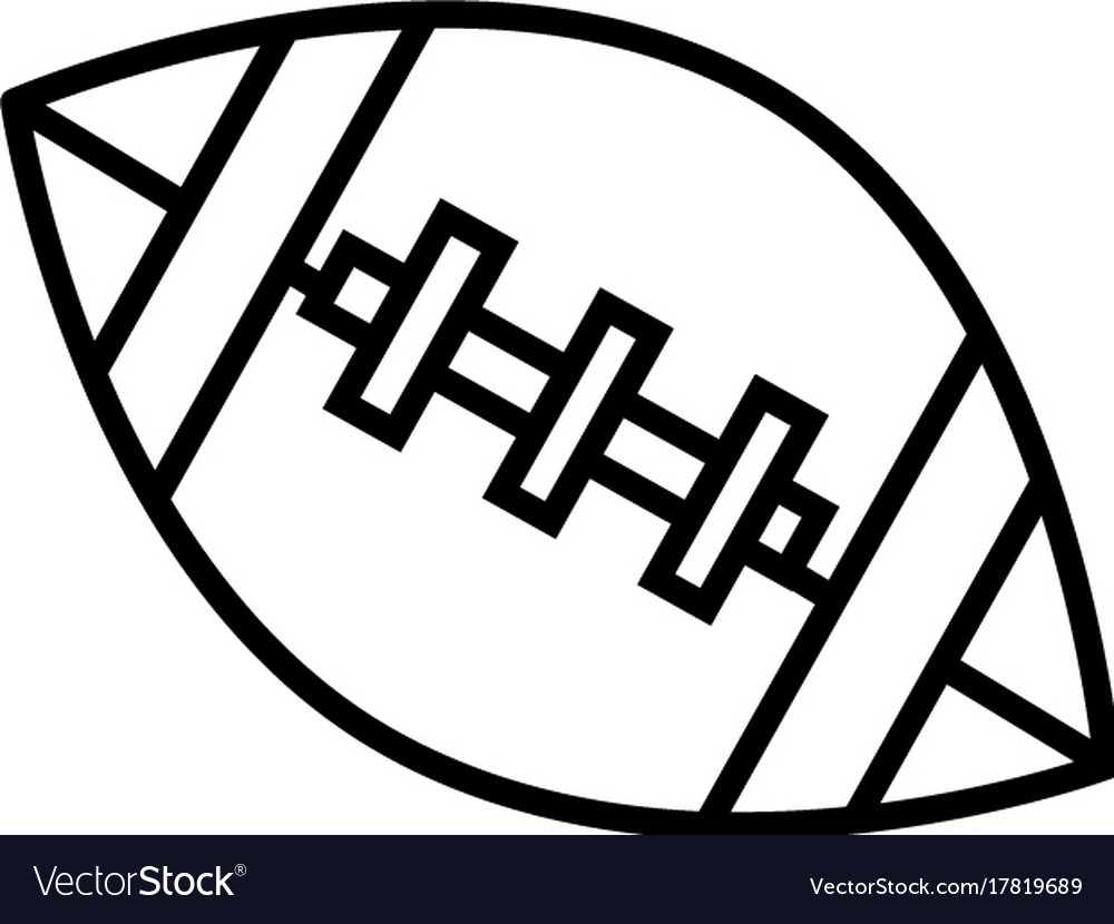 American football ball line icon sign vector image