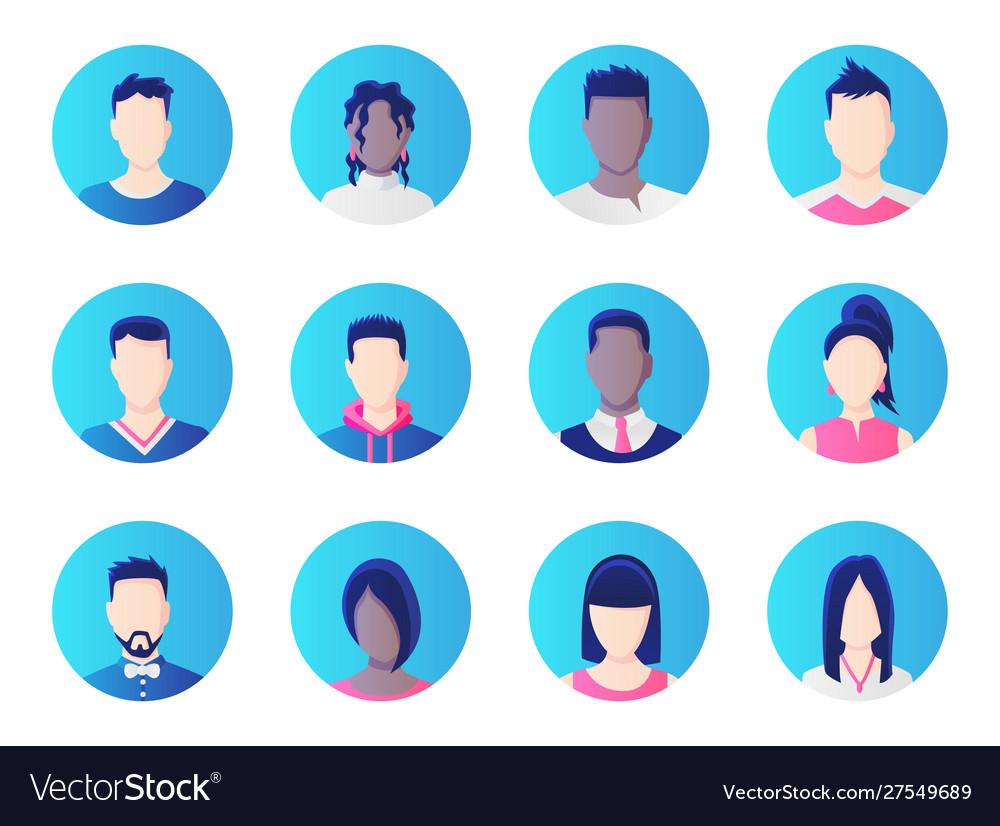 Avatar set group working people diversity