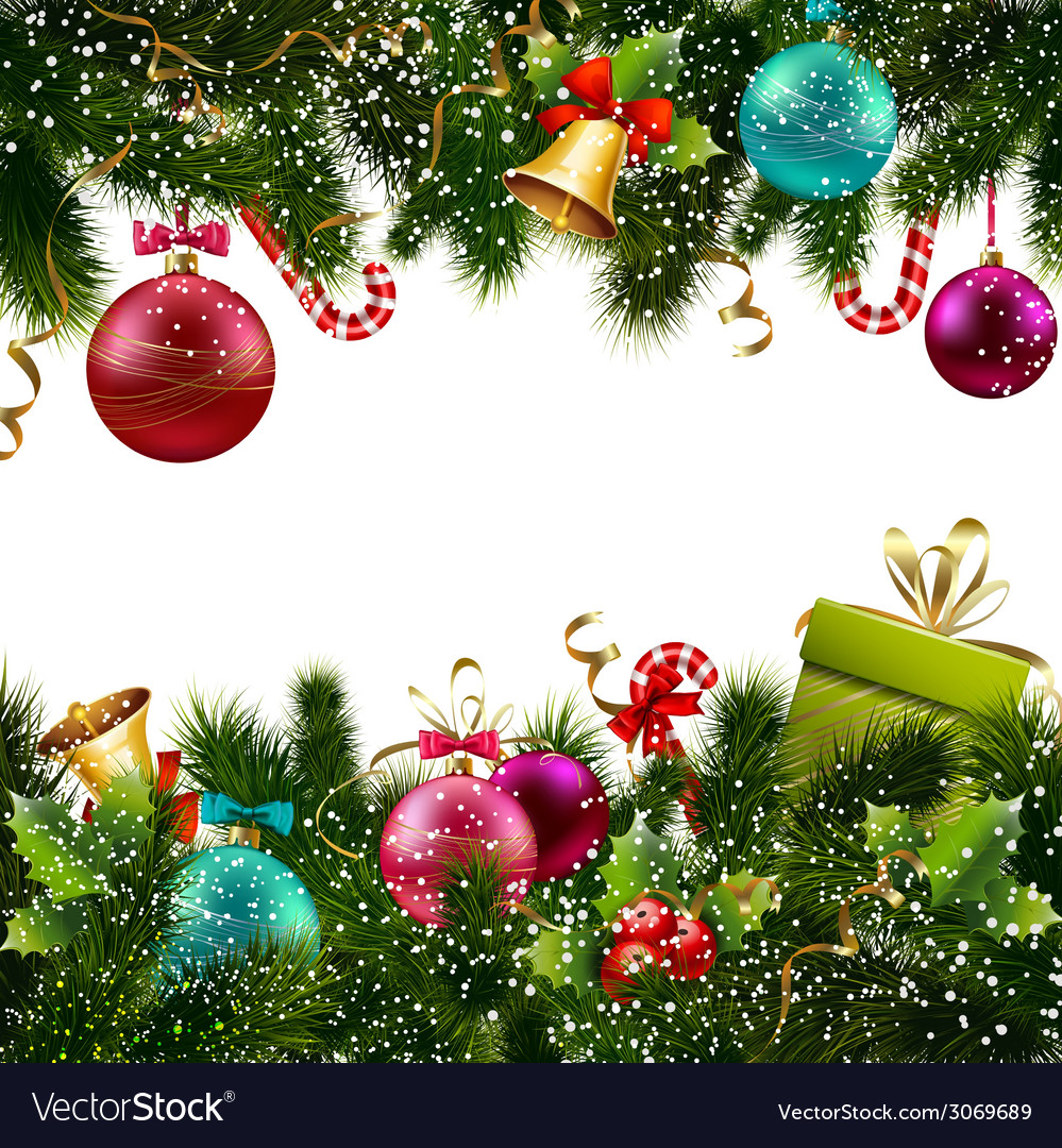 Christmas decoration border Royalty Free Vector Image