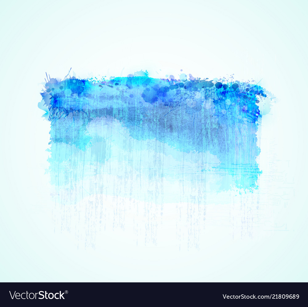 Cyan and blue watercolor stains bright color