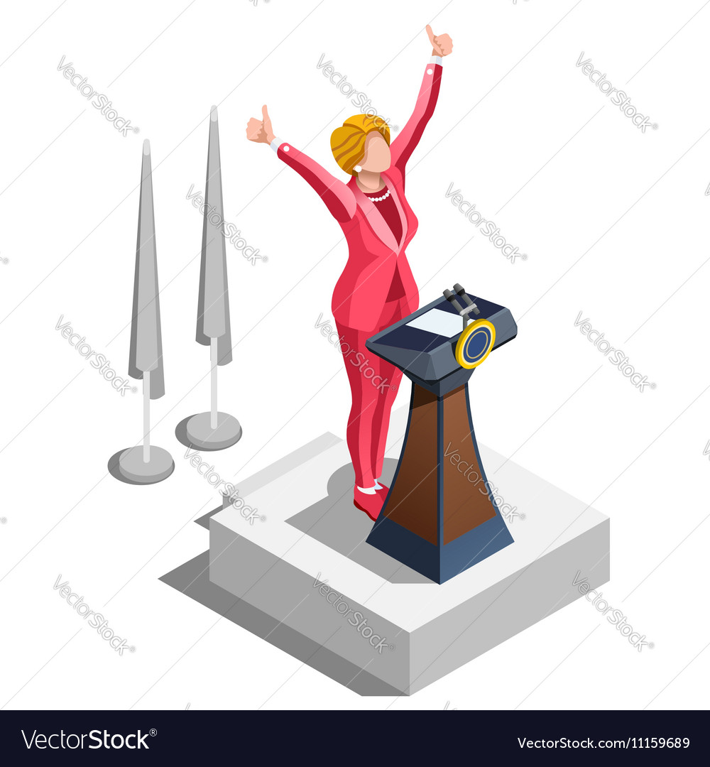 Election Infographic Political Congress Isometric vector image