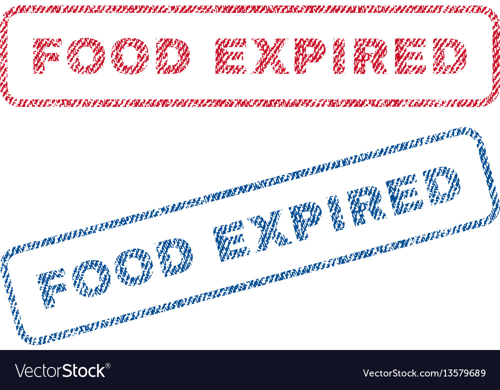 Food expired textile stamps