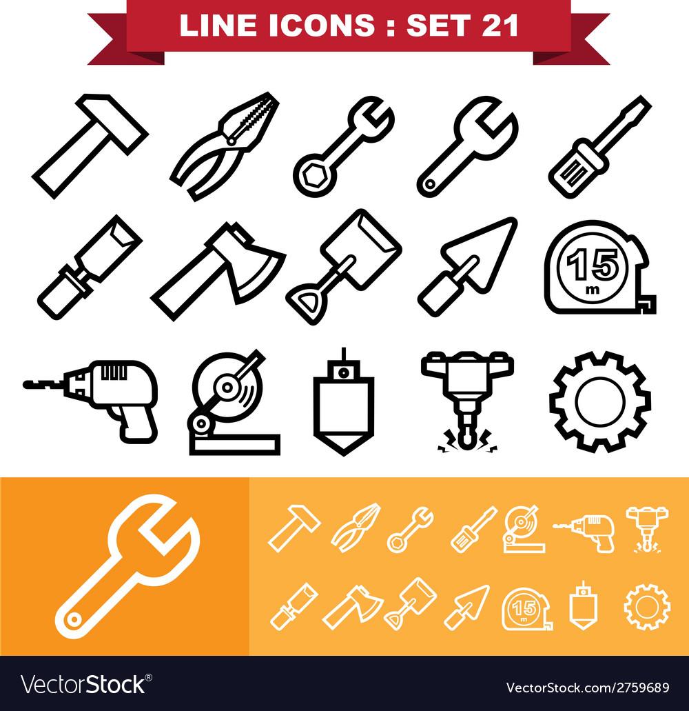 Line icons set 21
