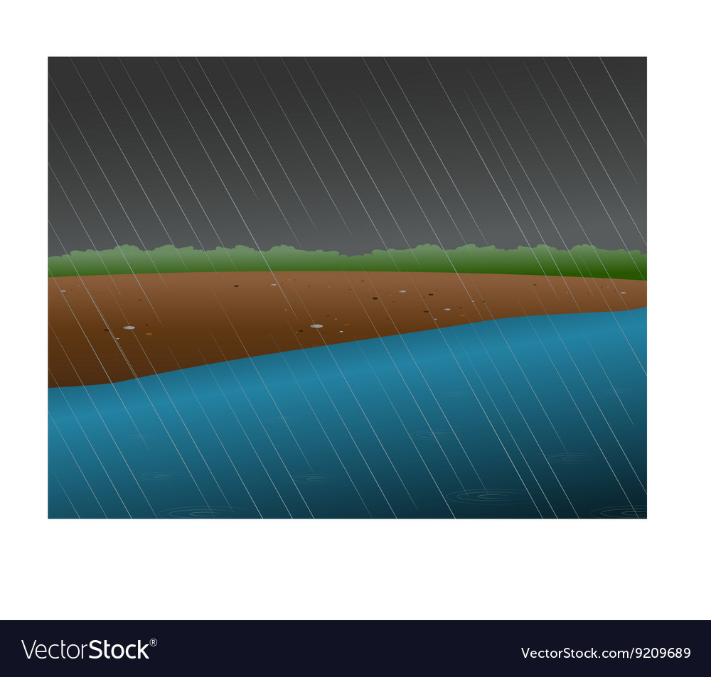 rainy river royalty free vector image vectorstock rainy river royalty free vector image vectorstock
