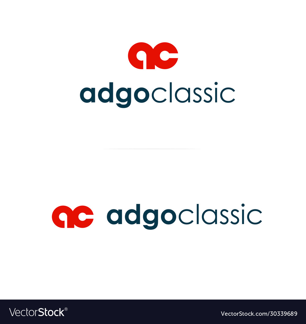 Red color logo monogram template logotype
