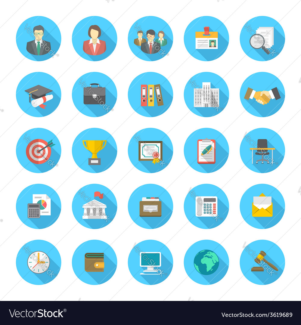 Icons For Resume.Round Flat Resume Icons