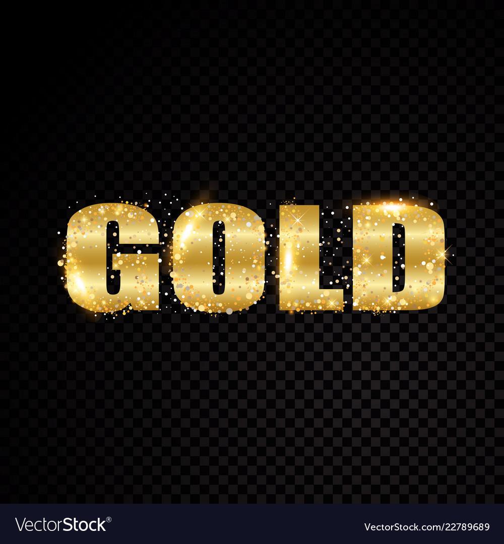 Star sparkle golden letter frame isolated on