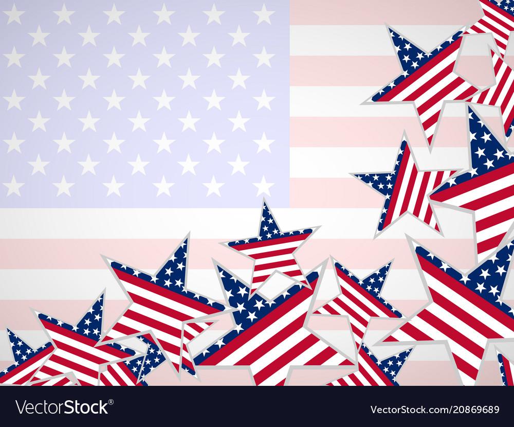Usa flag in star shape