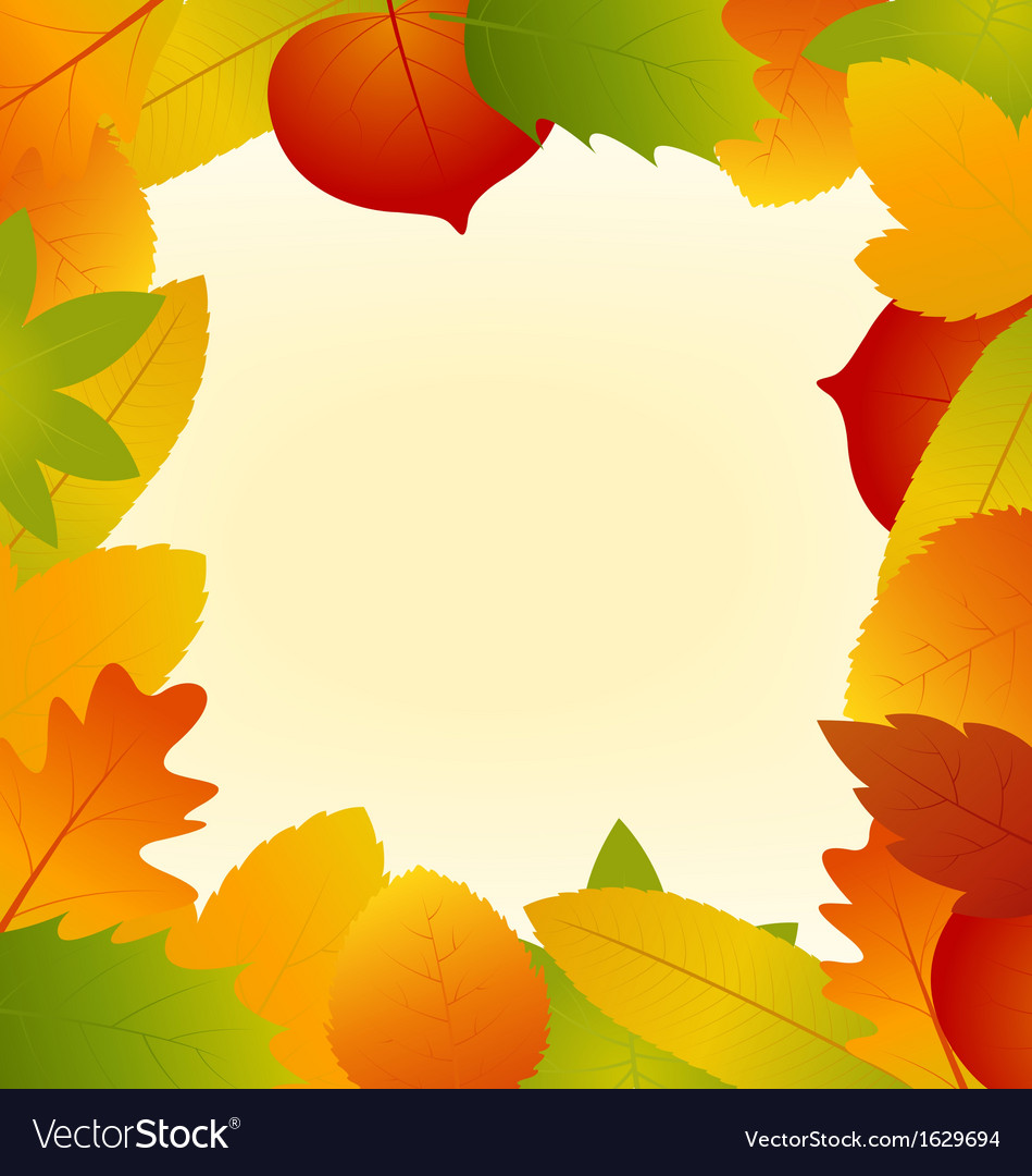 Autumn Leaves Frame Isolated on Background