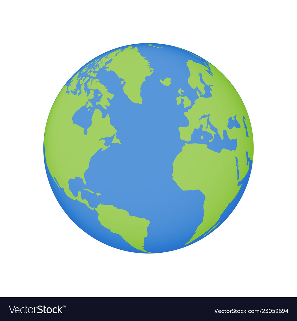 Earth globe icon world planet map