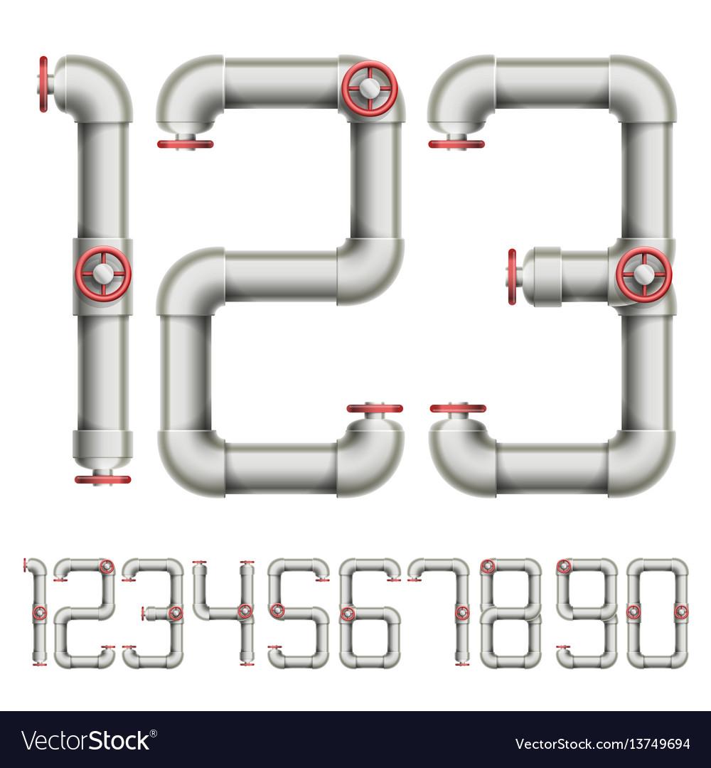 Plumbing figures vector image