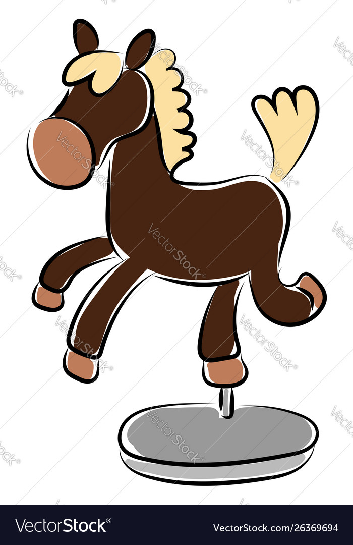 Small horse souvenir on white background