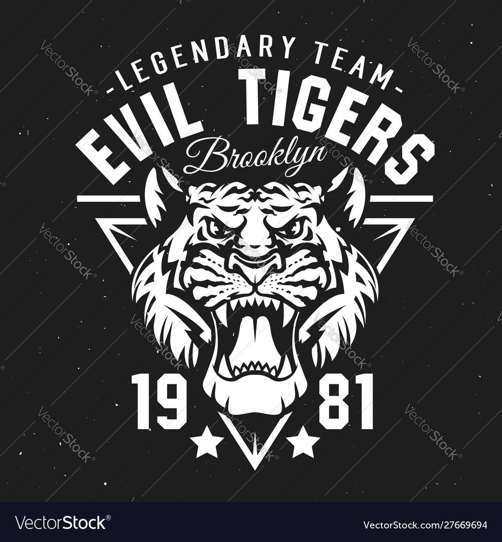 Tigers sport club university team league badge