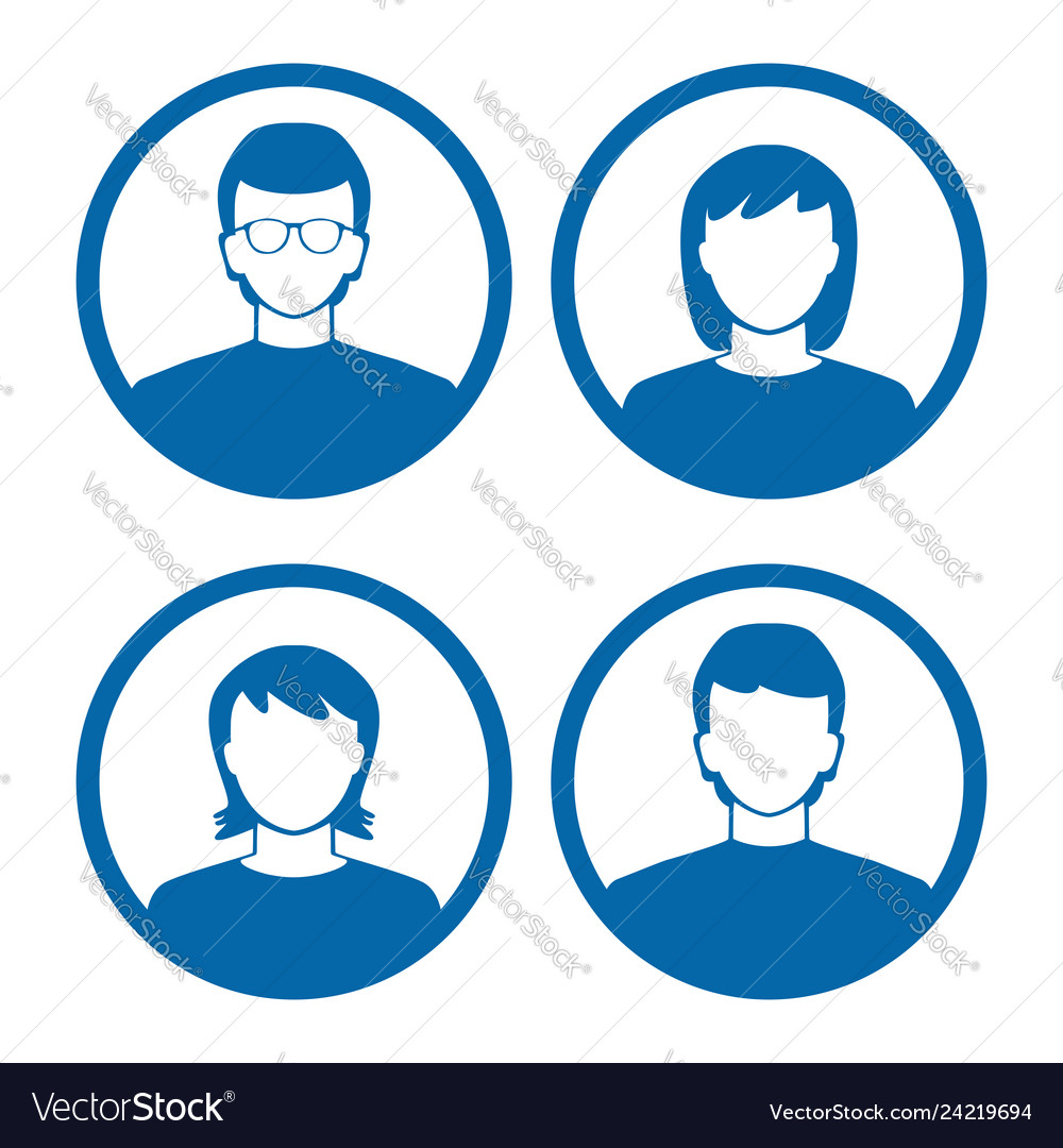 Users profile silhouettes