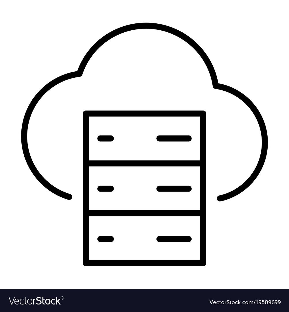 Cloud server line icon minimal 96x96 pictogram