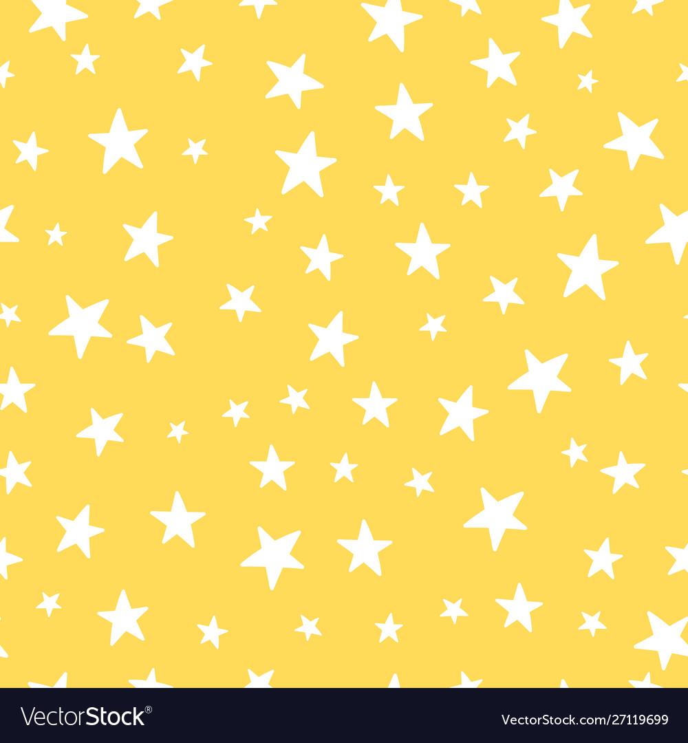 Cute yellow stars seamless pattern nursery