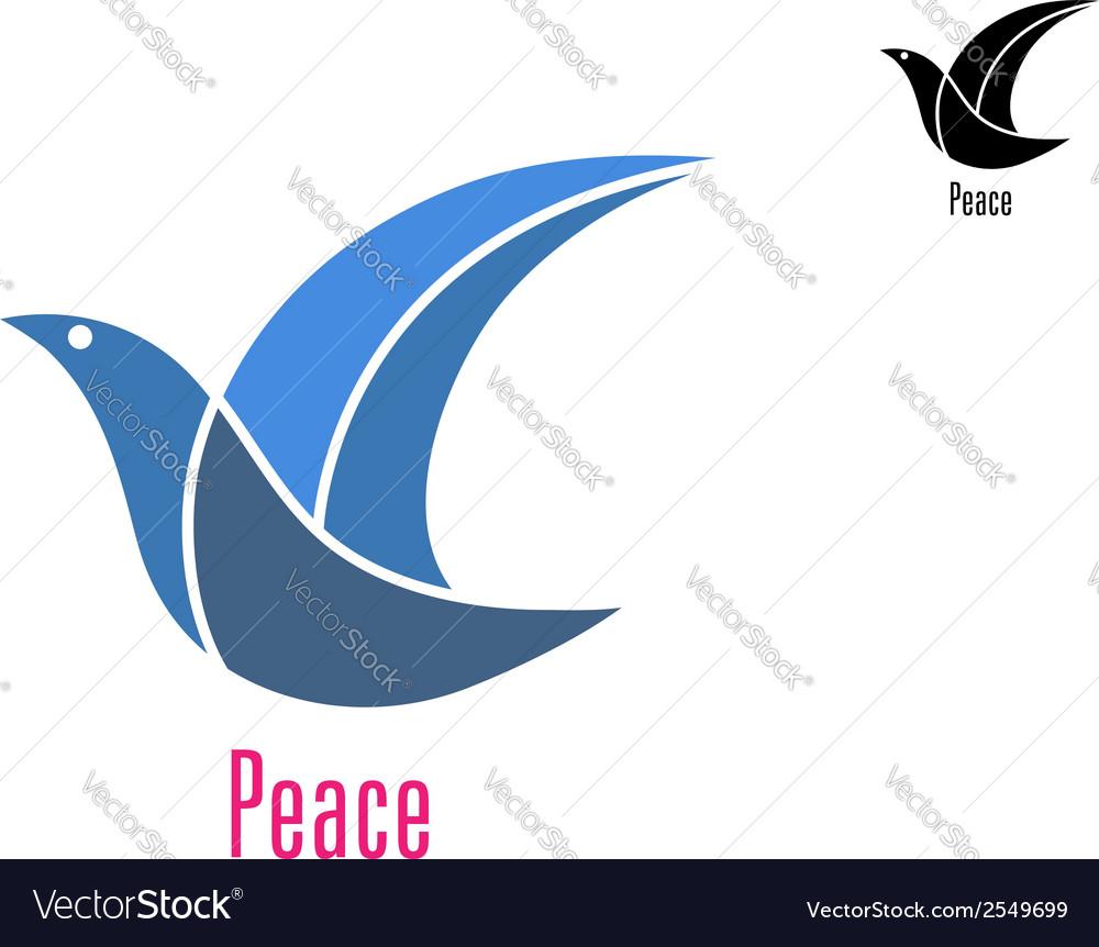 Dove Bird As A Peace Symbol Royalty Free Vector Image