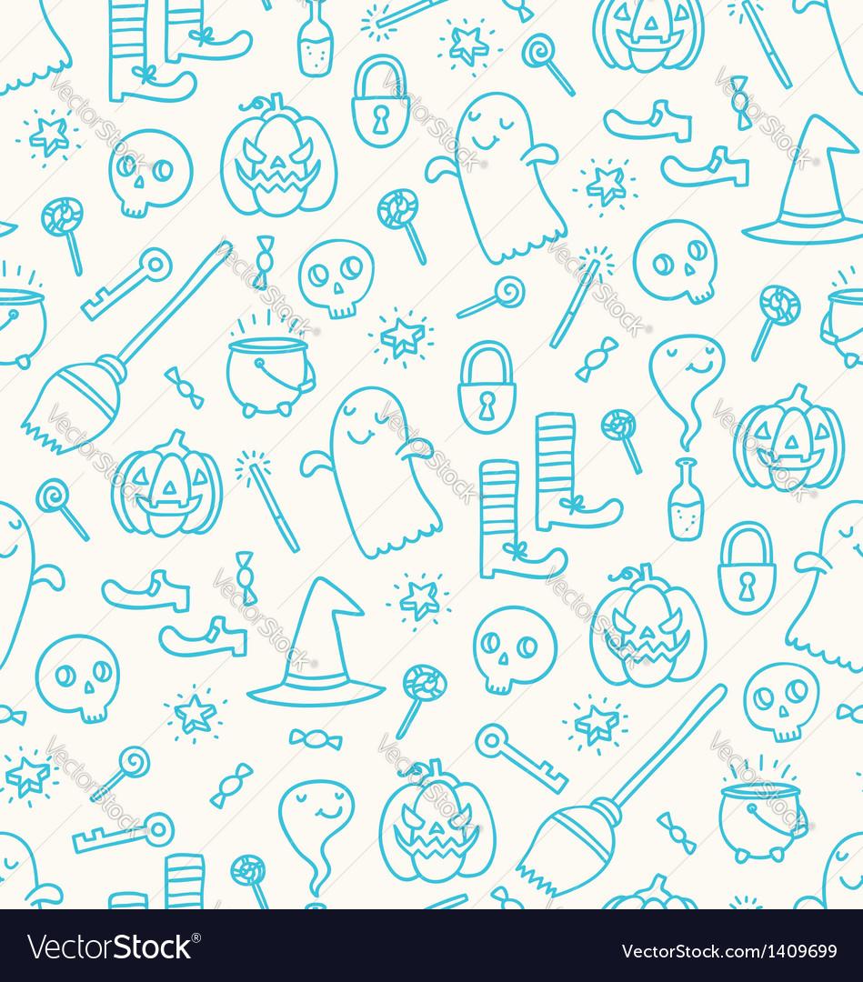 Halloween doodle pattern