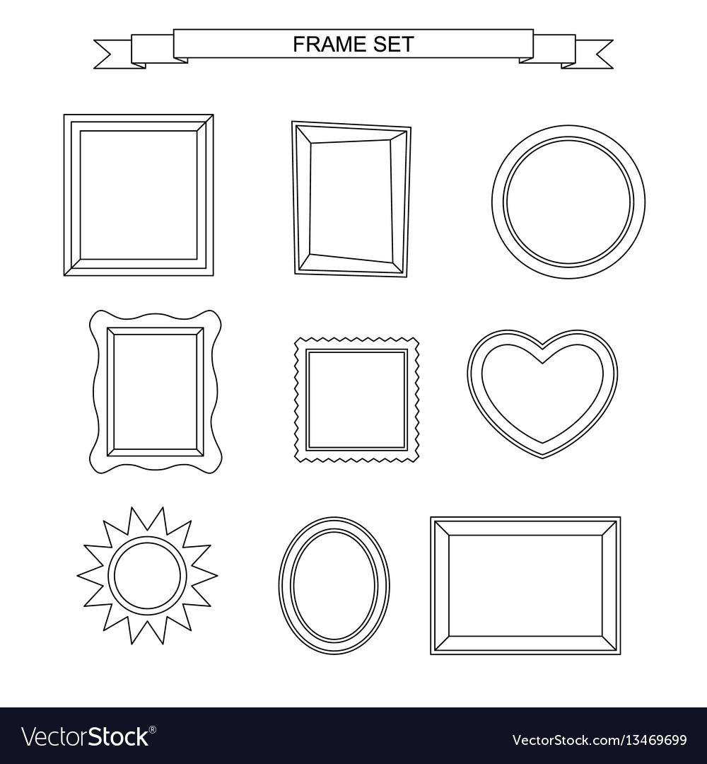 Line photo frames