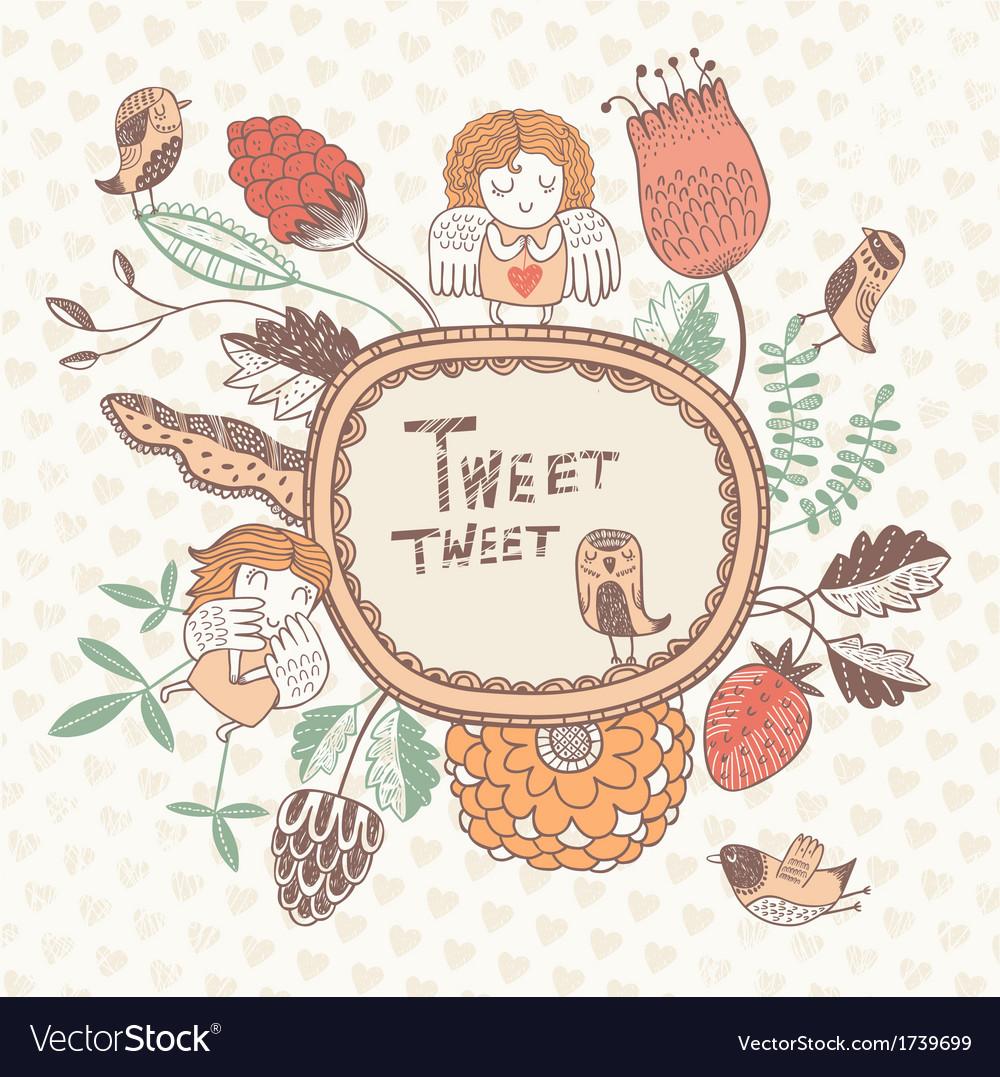 Tweet tweet vector image