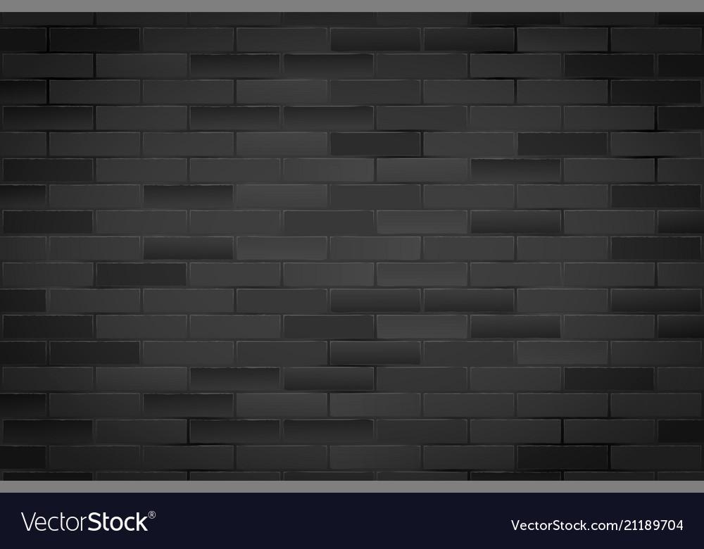 Black brick wall texture closeup